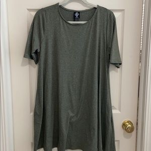 Agnes & Dora heather green swing tunic